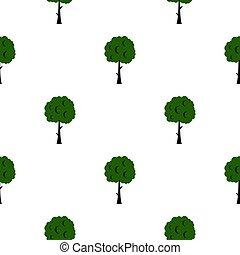 Long tree pattern flat