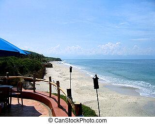 Long tropical beach
