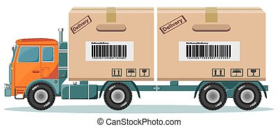 Long truck with cargo