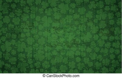 Long Vintage Background Shamrocks St Patricks Day - Vintage...