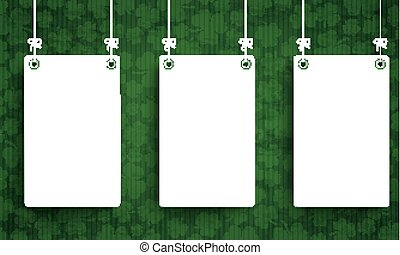 Long Vintage Background St Patricks Day 3 White Boards