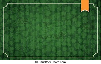 Long Vintage Frame Shamrocks Ribbon St Patricks Day