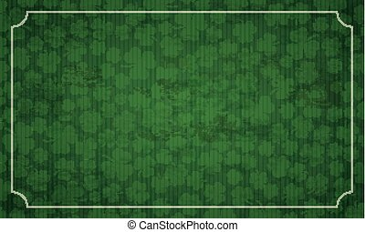 Long Vintage Frame Shamrocks St Patricks Day