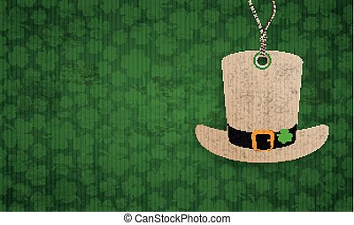 Long Vintage Shamrocks Hat Sticker St Patricks Day