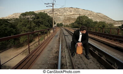 Long wait for a train