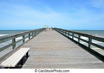 Long Walk On Fishing Pier