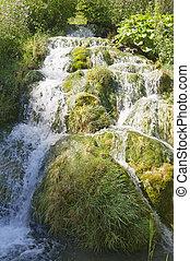 Long waterfall detail