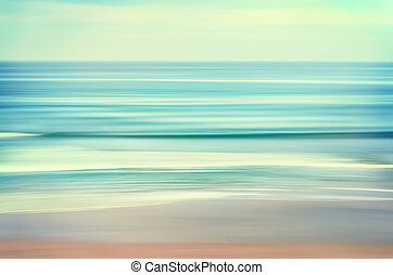 Long Wave Seascape - An abstract ocean seascape with blurred...
