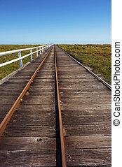 Long Wooden Boardwalk