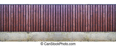 Long wooden fence