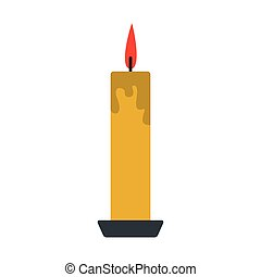 Long yellow candle icon