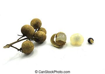 Longan fruit isolated on white background