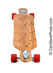 Longboard skateboard isolated on a white background