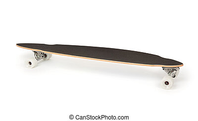 longboard skateboard isolated on white