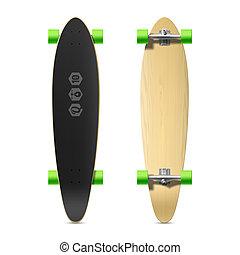 Longboard, skateboard