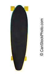 Longboard - Top view of wooden longboard (skateboard)...