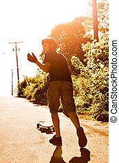 Longboarding Teen Silhouette