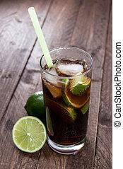 Longdrink in a glass