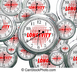 Longevity Word Clocks Time Flying Durable Lasting Experience Con