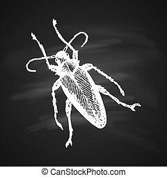 Longhorn beetle Icon - Longhorn Beetle Icon Painted a White...