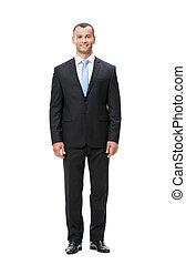 longitud, lleno, hombre de negocios