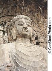 Longmen Caves in Luoyang. Buddha
