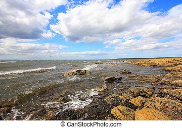 longnaddry, παραλία , ημέρα , ηλιόλουστος , σκωτσέζικο