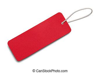 longo, tag vermelho