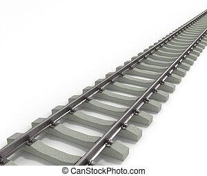 longo, trilhos, diagonal