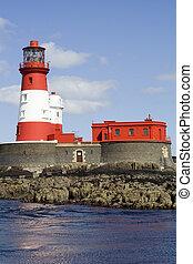 longstone, イギリス\, farne, uk., 島, 灯台