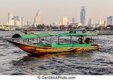 longtail, bangkok, barco
