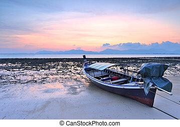 longtail, tailandés, barco