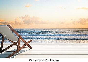 longue chaise, litoral