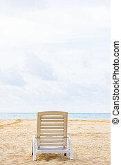 longue chaise, praia