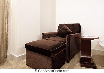 longue, chaise, tabela