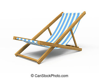 longue, isolado, fazendo, fundo, chaise, branca, 3d