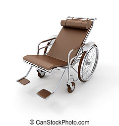 longue, marrom, cadeira rodas, chaise