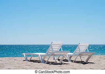 longues, chaise, dois