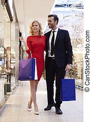 longueur, couple, entiers, centre commercial