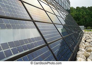lontano, stazione, nord, energia solare