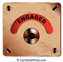 Loo Engaged Indicator - A typical loo engaged indicator over...
