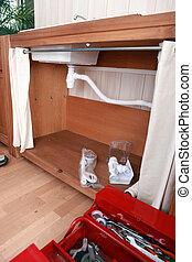 loodgieterswerk, badkamer