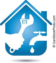loodgieterswerk, herstelling, thuis