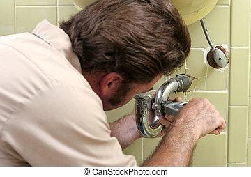 loodgieterswerk, verscherping