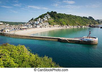 Looe harbour Cornwall england