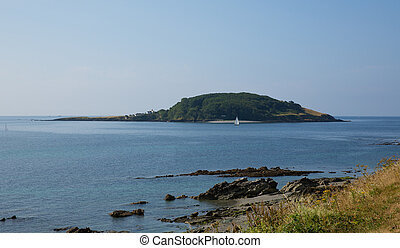 Looe island Cornwall St Georges