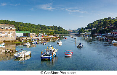 Looe river Cornwall summer day