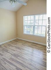 loofhout, nieuw, vloer, slaapkamer