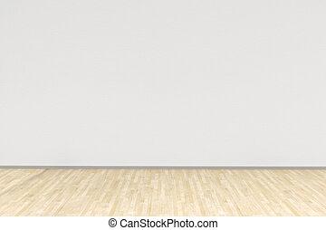 loofhout, wite kamer, vloer