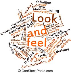 Look and feel - Abstract word cloud for Look and feel with...
